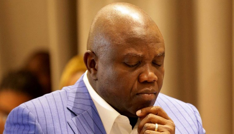 Image result for ambode breaks down